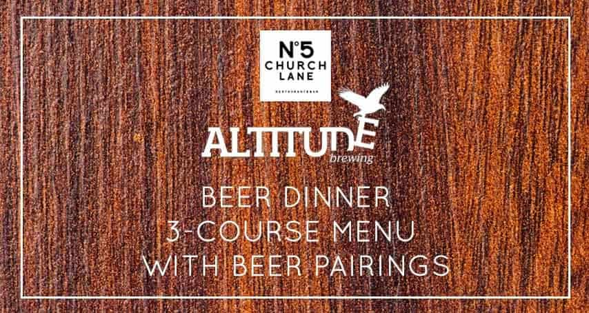 Altitude Beer Matched Dinner
